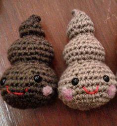 Les petit poop #poop #crochet #amigurumi #milagrerias #funny #yarnlover by valethegirl