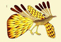 Large Bird from the Sun, by Kenojuak Ashevak (Inuit artist), 1979 Native Canadian, Canadian Art, Native American, Art Premier, Madhubani Art, Inuit Art, Artwork Display, Art Themes, Native Art
