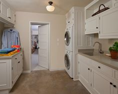 Laundry Room Design, Pictures, Remodel, Decor and Ideas - stack machines?