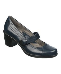 This Classic Navy Leather Elliana Mary Jane Pump by Naturalizer is perfect! #zulilyfinds