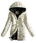 Moncler Coats Kvinnor Breasted Pure Belt Vit
