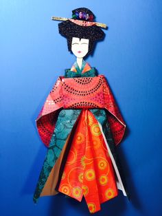 Origami 3D geisha I made it and Love it all about it.
