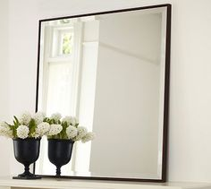 Upton Mirror #potterybarn LOVE this mirror! I really want to purchase two (waiting for a sale) - to hang over each of my empire dressers- adding a little simple modern touch to a 18thc piece. Simple, elegant, timeless.