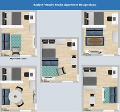 Studio Apartment Layouts: How To Guide. Studio Apartment Layouts: How To Guide : The Finance Fairy. Studio apartment layouts and where I found my really inexpensive items! It took me months to maximize the studio space, but now it will take you minutes. Tiny Studio Apartments, Studio Apartment Layout, Studio Layout, Studio Apartment Organization, Studio Apartment Divider, Studio Apartment Furniture, Small Apartment Layout, Studio Apartment Living, Small Studio Apartment Design
