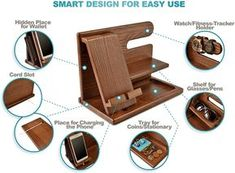 Wood Phone Docking Station Ash Key Holder Wallet Stand Watch Organizer Men Gift Husband Wife Anniversary Dad Birthday Nightstand Purse Father Graduation Male Travel Idea Gadgets Solid: Amazon.com.au: Electronics Wood Projects, Woodworking Projects, Wood Phone Holder, Wood Phone Stand, Gifts For Husband, Husband Wife, Key Holder Wallet, Watch Organizer, Wooden Desk Organizer