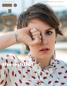 I am not even going to act like she doesn't make me want to run out and get like a zillion tattoos. Lena Dunham's i-D cover