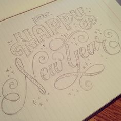 Pretty psyched for 2014 Happy New Year! Pretty psyched for 2014 Typography Love, Typography Inspiration, Typography Letters, Graphic Design Typography, Lettering Design, New Year Doodle, New Year Art, Happy New Year Letter, Happy New Year Cards