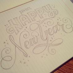 marykatemcdevitt's 2014 Happy New Year sketch