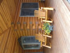 Thanks for sharing Tom & Kathy Majot!   Attached is a picture of our rocking chairs we purchased from your store this summer. We stained them to match our cabin in the woods in Potter County. We get many compliments on them. We sit out on our porch every evening and watch the wildlife in the front yard.  www.briarhillfurniture.com