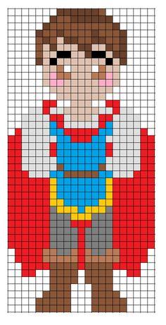 Disney Snow White Prince Charming perler bead pattern