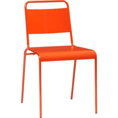 lucinda orange stacking chair in all new | CB2