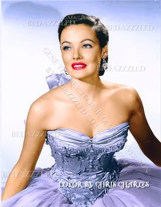 GENE TIERNEY TECHNICOLOR CONVERSION BY BEDAZZZLED FROM B/W PRINT