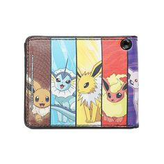 Pokemon Eevee Evolution Panels Bi-Fold Wallet | Hot Topic ($17) ❤ liked on Polyvore