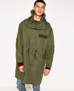 Bild 4 von OVERSIZE-PARKA von Zara Parka, Military Jacket, Raincoat, Jackets, Image, Collection, Fashion, Down Jackets, Moda