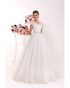 6b789950ac10 Luxusné svadobné šaty s čipkovaným korzetom a tylovou sukňou