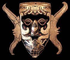 Head Hunter, Body Mask, Indonesian Art, Human Skull, Quiver, Borneo, Old Antiques, Tribal Art, Headgear