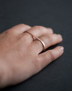 double finger bar ring ++ alexis russell