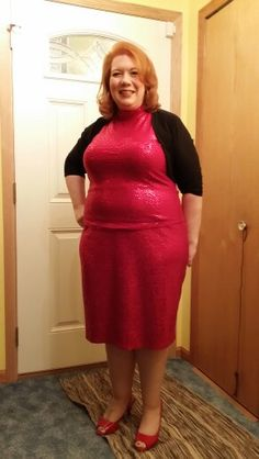 5a73d34b84606 Ashley Stewart sequined skirt and top with an IGIGI shrug. Hot for New  Years Eve
