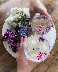 Mezcal margaritas with Lane to send off this bizzaro week... (process Maldon salt with Lilacs for the rim!) Mezcal Margarita, April 25, Lilacs, Crowns, Salt, Apothecary, Porn, Drink, Instagram