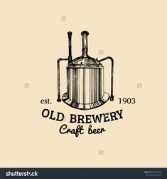 Old Brewery. Retro Logotype With Beer Elements.