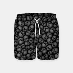 Totally Gothic III Swim Shorts, Live Heroes