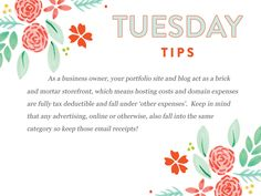 It's #151 of our Tuesday Tips and this month is all about tax strategies to help make it easy for you!  http://www.everythingbloom.com/tuesday-tips-151-%C2%B7-tax-strategies