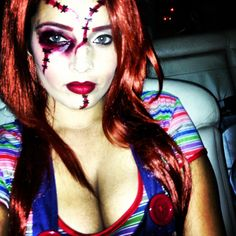 My Haloween costume, makeup by me! Chucky!!