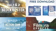 All Filmora Effects Pack Free Download with Block Buster Effect Pack 100...