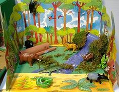 3-D Geography ~ Dioramas, 3-D Animals downloads, Geography ideas