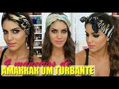 4 formas fashion de amarrar um turbante/lenço - YouTube
