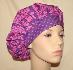 Bouffant Surgical Scrub Hats  Dandy Damask Princess by ScrubHeads, $12.50
