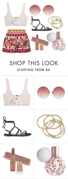 """""""Untitled #13"""" by caralulu ❤ liked on Polyvore featuring Puma, Linda Farrow, Rebecca Minkoff, ABS by Allen Schwartz and Dolce&Gabbana"""