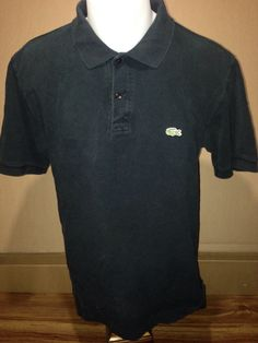 Large Black Short Sleeve Lacoste Polo by MajorDivison on Etsy