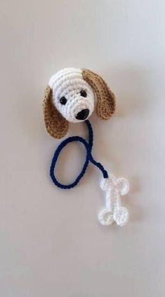 Items similar to Crochet Amigurumi Dog Bookmark - girls bookmark - boys bookmark - cool bookmark - book lover gift - childrens bookmark - cute bookmark on Etsy Marque-pages Au Crochet, Chat Crochet, Crochet Mignon, Crochet Amigurumi, Crochet Books, Crochet Gifts, Crochet Stitches, Crochet Baby, Crochet Bookmark Pattern