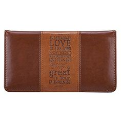 """""""Steadfast Love"""" Two-tone Checkbook Cover -- Details can be found at"""