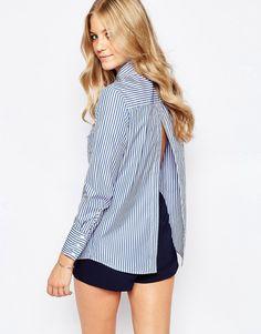 Imagen 1 de Camisa con espalda abierta Statlic Lines de Finders Keepers