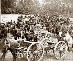 Pulling Artillery - Civil War