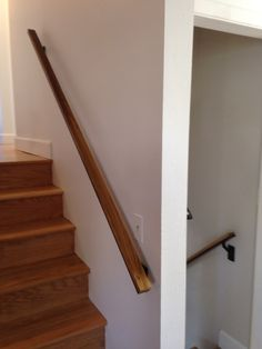 Finished handrail installed