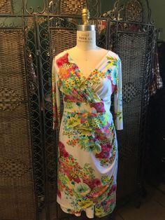 NWT $76 VIOR VIOR WHITE Pink FLORAL DRESS Boutique Boho Luxe Springtime Easter S  | eBay