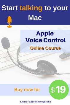 Learn how to optimally use dictation on the Mac. Apple Voice Control offers this for free. Buy this course to learn how to use Voice Control. Until 30 April 2020 extra low pricing while new lessons are being released. Repetitive Strain Injury, Speech Recognition, Assistive Technology, I Promise You, Product Page, Your Voice, Figure It Out, Talking To You, Online Courses