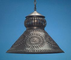 Antique Tin Punched Light Shade — made in Massachusetts!