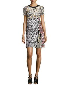 Barcelona Babe Mixed-Print Dress by Nanette Lepore at Neiman Marcus.