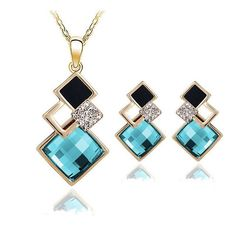 Kalifa Necklace and Earrings Set - KLH Collection