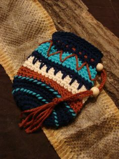 Native American inspired pouch .. love how this turned out