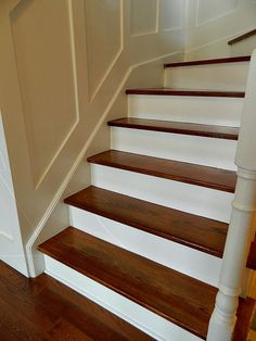 Larger Staircase refinished. Shown here with Board and Batten