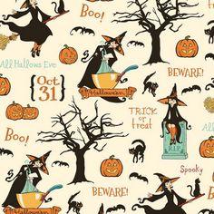Witch Hazel Main in Cream by Riley Blake Designs C3930-CREAM