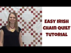 How to Make an Easy Irish Chain Quilt - Beginner Quilting Tutorial with Leah Day - YouTube