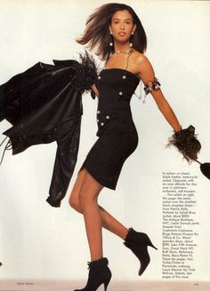 'Covering All Bases' Vogue October 1988, Kara Young by Steven Meisel