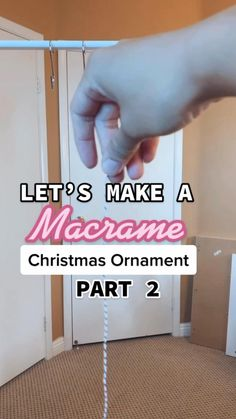 Macrame Wall Hanging Patterns, Macrame Patterns, Diy Wall Art, Diy Wall Decor, Diy Christmas Ornaments, Christmas Decor, Diy Gifts, Xmas Gifts, Ornament Tutorial