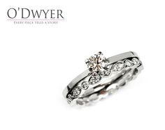Solitaire Ring - Our Finesse ring in 18ct white gold matched with our Juliet Original ring.